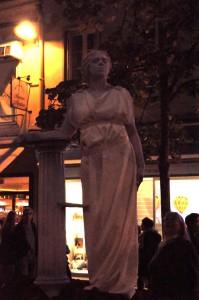 statue vivante romaine
