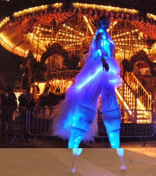 LED stilt walker